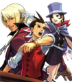 Objection!! magazine cover ft Apollo, Klavier, and Trucy.png