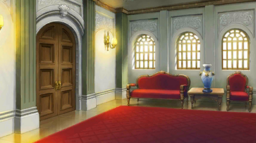 English courtroom lobby