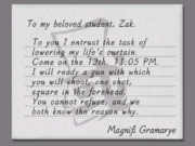 Letter to Zak