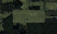Namco's 50th anniversay logo in Cape Landers