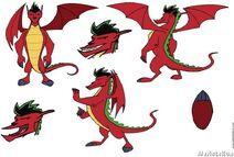 Jake Long as a dragon