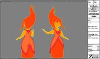 Modelsheet flameprincess - firepalacecolor