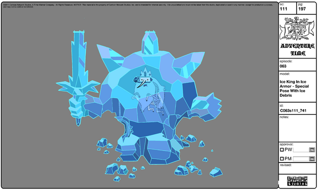 File:Modelsheet Ice King in Ice Armor - Special Pose with Ice Debris.png