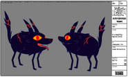 Modelsheet Fire Wolf Pup - Special Color 2