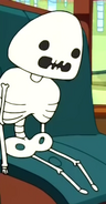S2e19 skeleton of green gumdrop dude
