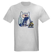 AT Tee Grey Finn & Jake