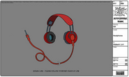Modelsheet headphones