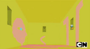 S5 e1 Finn and Jake in time room with Prismo