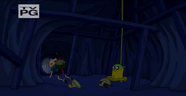File:S4 E11 Finn going in cave.PNG