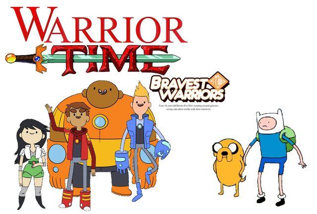 File:Finn and jake meet the bravest warriors.jpg