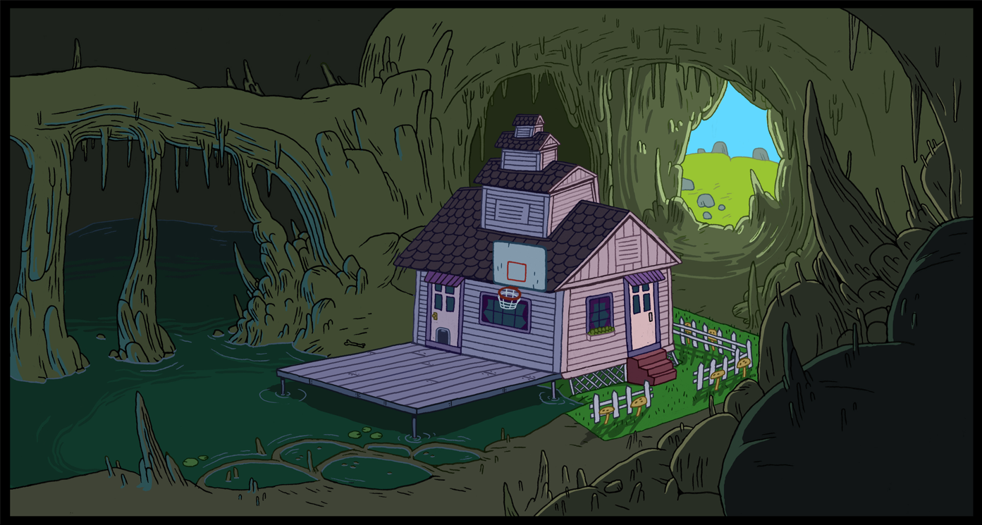 Marceline 39 s house adventure time wiki fandom powered for What is a shouse house