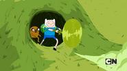 S05e45 Finn cuts through the grass