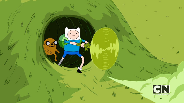 File:S05e45 Finn cuts through the grass.png