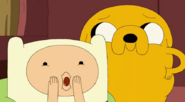 S5 e24 Finn and Jake messing with Jake Jr.