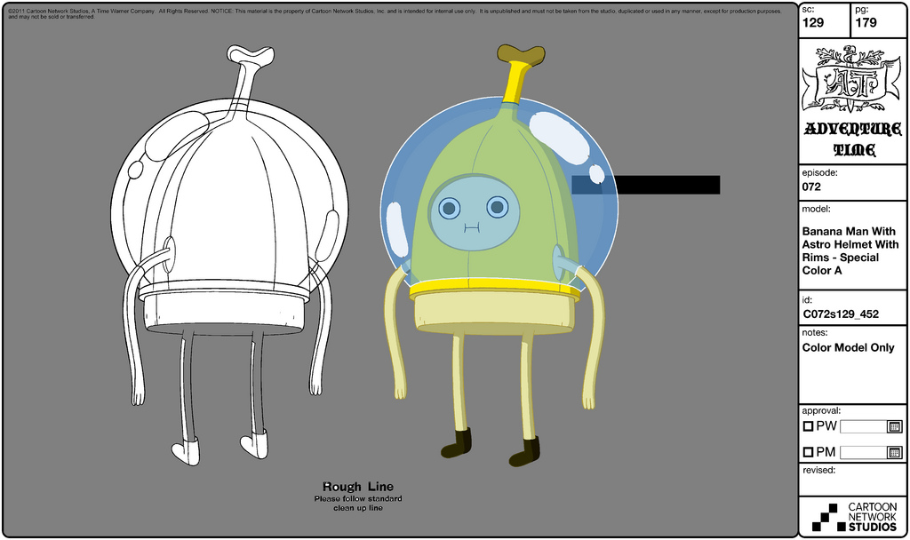 Adventure Time Character Design Sheets : Image modelsheet bananaman withastrohelmet withrims