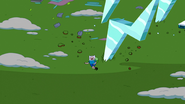 S5e18 Finn running from ice lightning