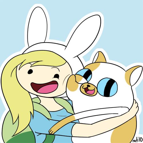 Fiona and cake hug