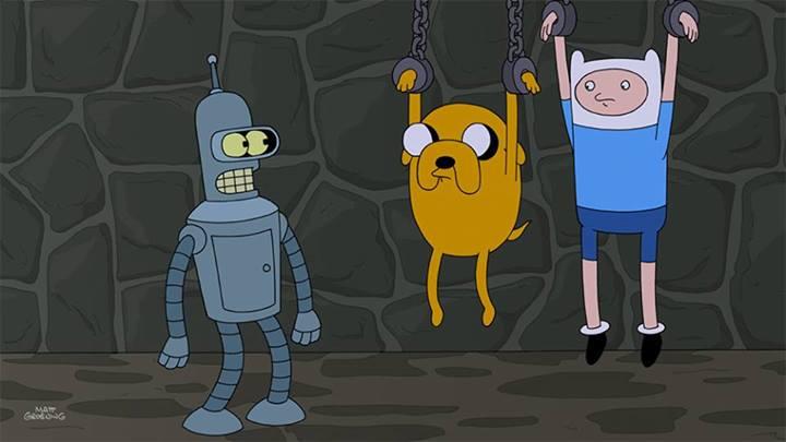 Futurama-Finn&JakeCrossover