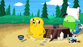 S2e13 Finn and Jake guarding the beans.png