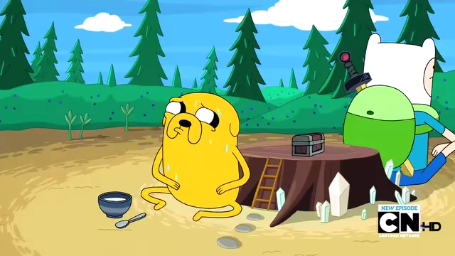 File:S2e13 Finn and Jake guarding the beans.png
