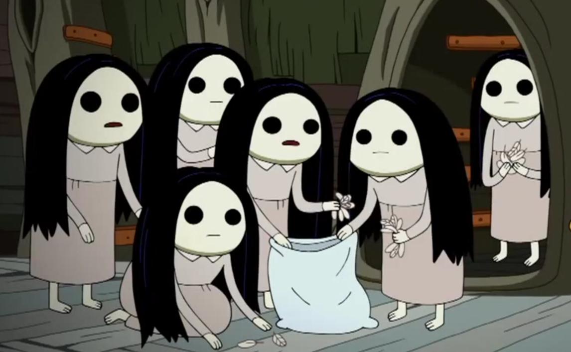 Blank Eyed Girls Species Adventure Time Wiki Fandom