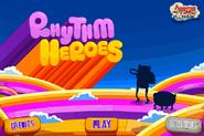 Rhythm Heros main title screen