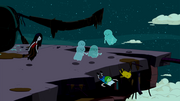 S2e26 Ghosts pushing Finn and Jake off cliff