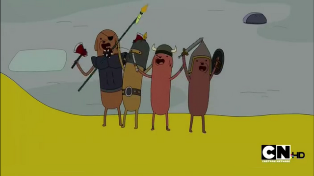 File:S2e22 Hot Dog Knights on Jake.png