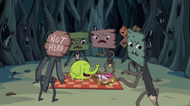 File:S1e4 tree trunks with sign zombies1.png