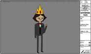 Modelsheet Young Ice King with Crown