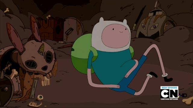 File:S3e2 Finn next to rabbit skeleton.png