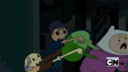 S2e24 Skeletons grabbing on Finn's bag