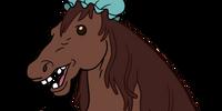 Horse Wearing Shower Cap