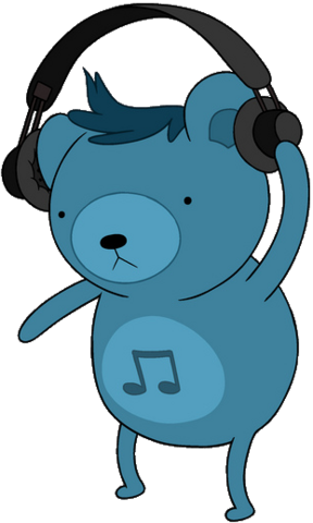 File:Dj Bear with headphones.png