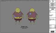 Modelsheet Fat Peasant Villager