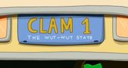 S5e14 Clambulance license plate