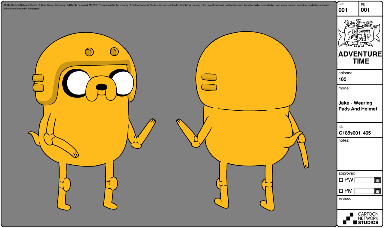 Adventure Time Character Design Sheets : Image modelsheet jake wearingpadsandhelmet