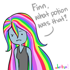 Rainbow hair potion by dettsu-d4ol09r