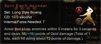 (Long Style Boxing) Split Earth Asunder (Description)