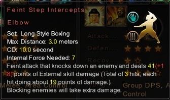 (Long Style Boxing) Feint Step Intercepts Elbow (Description)