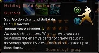 (Golden Diamond Soft Palm) Holding Sand Against The Current (Description)