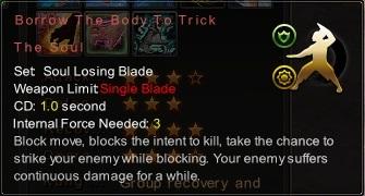 (Soul Losing Blade) Borrow The Body To Trick The Soul (Description)