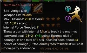 (Vertigo Dart) Summon Spirits (Description)