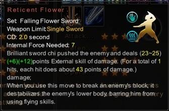 (Falling Flower Sword) Reticent Flower (Description)