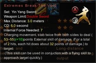 (Yin Yang Sword) Extremes Break The Void (Description)