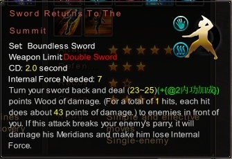 (Boundless Sword) Sword Returns To The Summit (Description)