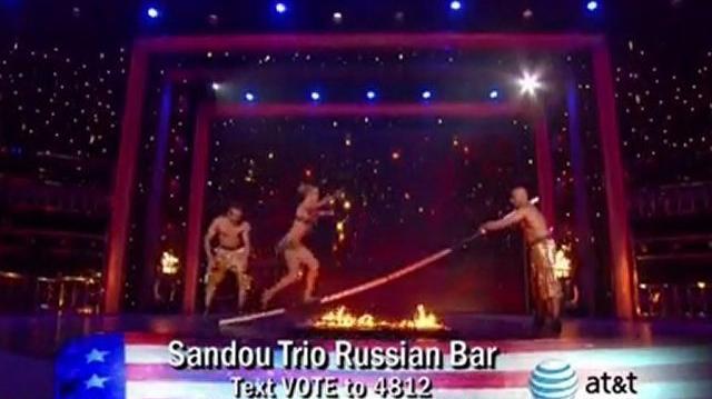 Sandou Trio Russian Bar, Top 48 (Q1) ~ America's Got Talent 2011 LIVE