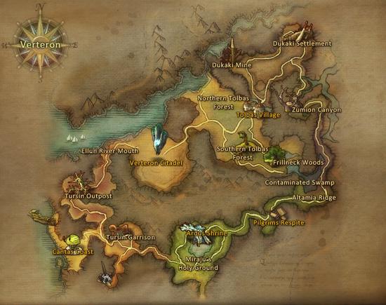 Verteron map