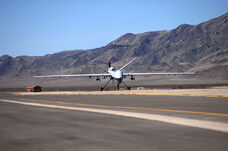 800px-First MQ-9 Reaper taxies at Creech AFB 2007