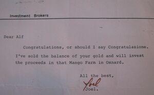 Joel's letter